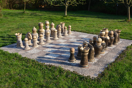 The garden chess closeup photo