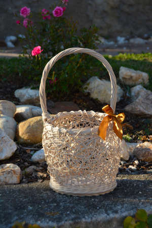The basket in the silence of the garden