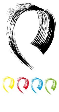 strokes brush1 Ilustração