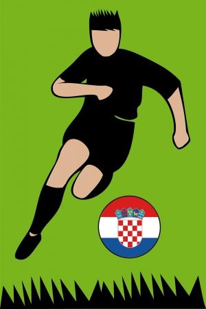 Euro 2012 football championsh Croatia Illustration