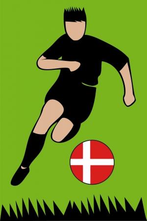 Euro 2012 football championsh Denmark Illustration