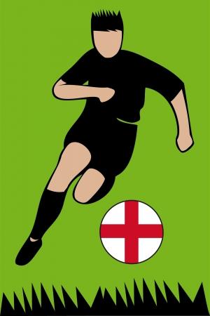 Euro 2012 football championsh England Stock Vector - 13612565
