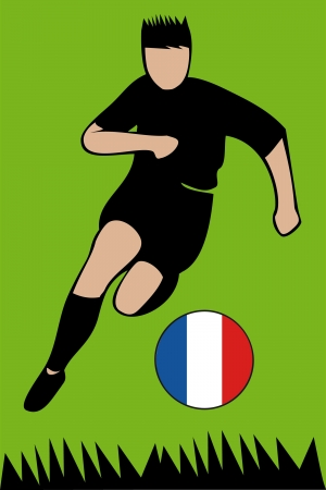 Euro 2012 football championsh France Stock Vector - 13612559