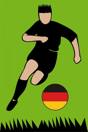Euro 2012 football championsh German Illustration
