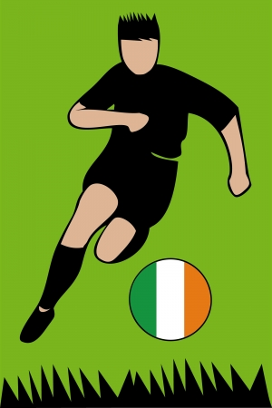 Euro 2012 football championship Ireland Illustration