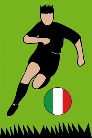 Euro 2012 football championship Italy Illustration
