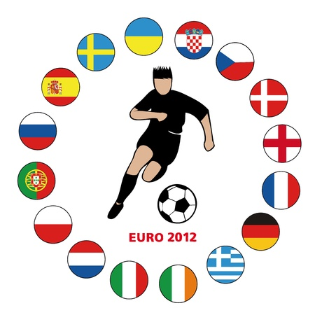 football euro2012-2 Stock Vector - 13635669
