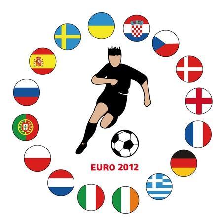 football euro2012-2 Stock Vector - 13635669