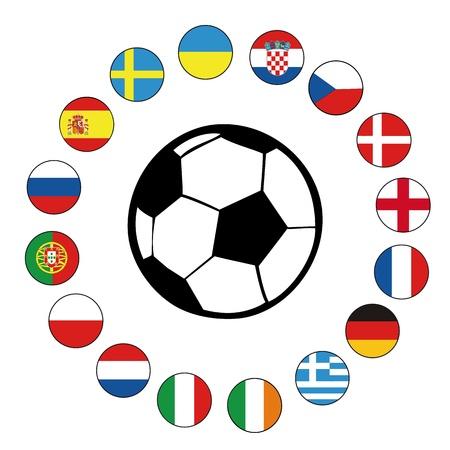 football euro2012 Illustration