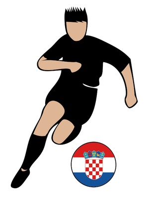 football euro croatia2 Vector