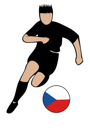 football euro czech2 Vector