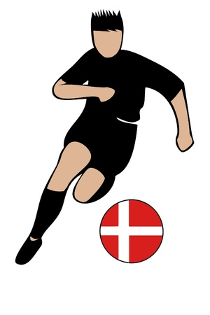 football euro denmark2 Vector
