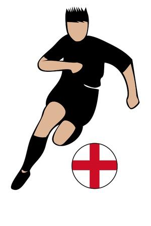 football euro england2 Stock Vector - 13635660