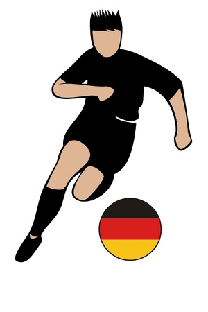 football euro german2 Vector