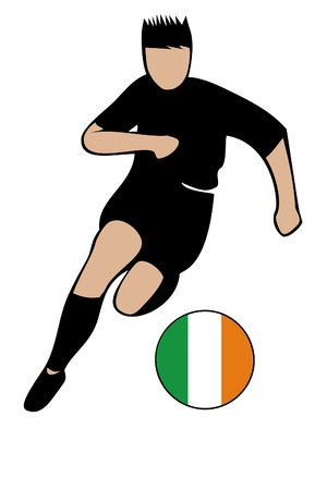 football euro iIreland2 Vector