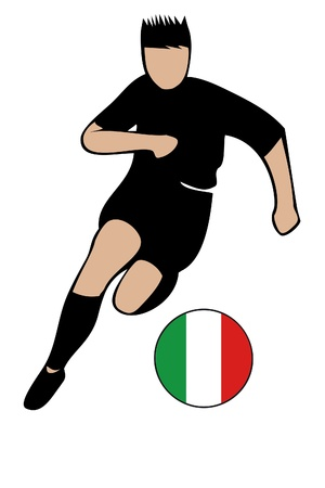 football euro italy2 Stock Vector - 13635656