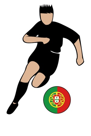 football euro portugal2.eps Stock Vector - 13635664