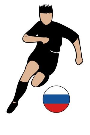 football euro russia2 Stock Vector - 13635657