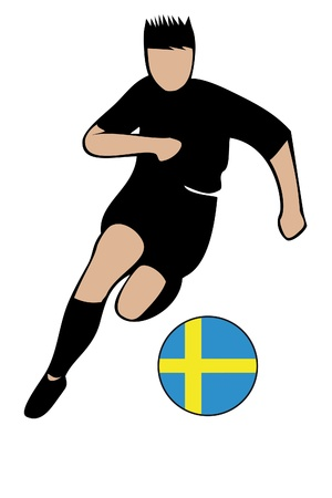 football euro sweden2 Stock Vector - 13635661