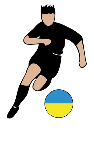 football euro ukraine2 Vector