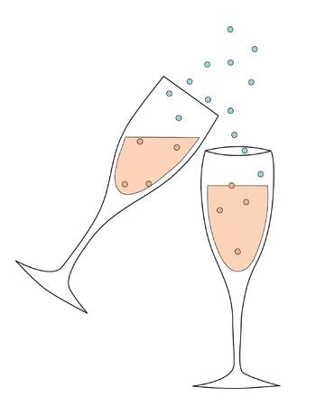 brindis champan: Brindis con champagne EPS
