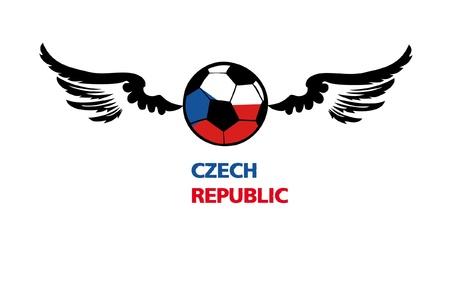 euro football Czech1 Stock Vector - 13892716