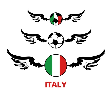 football euro Italy2 Stock Vector - 13933232