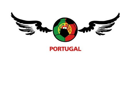 football euro Portugal Stock Vector - 13933244