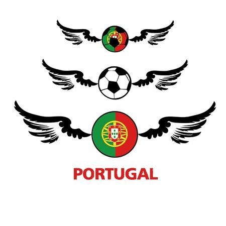 football euro Portugal Illustration