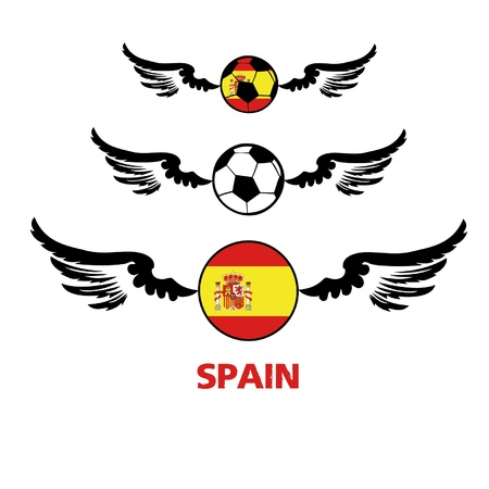 football euro Spain Illustration