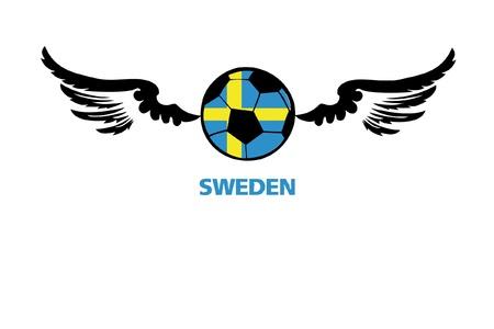 football euro Sweden1 Stock Vector - 13933227