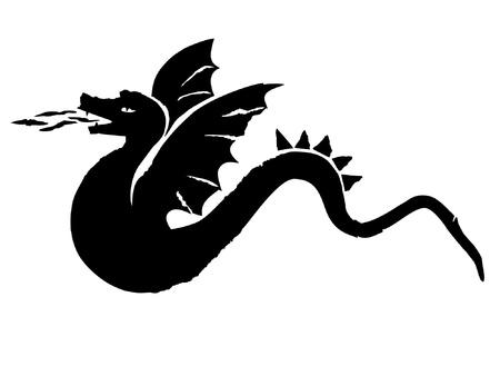 bestiary: dragon eps, illustration vectors Illustration