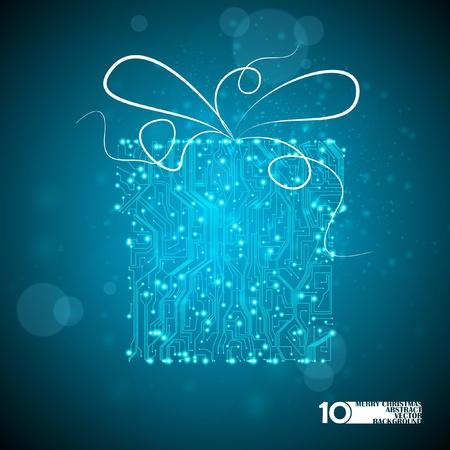 circuit board vector background, technology illustration, christmas gift eps10 Vector