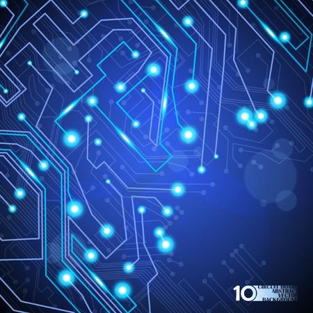 placa de circuito de fondo ilustración vectorial tecnología eps10