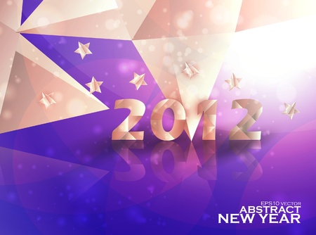 Year 2012  stars vector background, creative illustration eps10 Stock Vector - 11660171