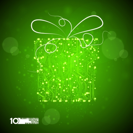 circuit board vector background, technology illustration, christmas gift eps10 Stock Vector - 11656665