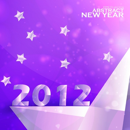 Year 2012  stars vector background, creative illustration eps10 Stock Vector - 11656704