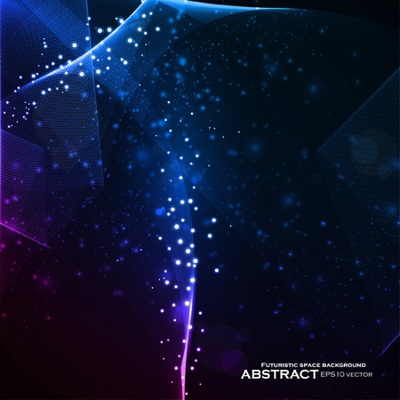 Abstract vector background, shiny space, futuristic wave illustration eps10 Stock Vector - 11656735