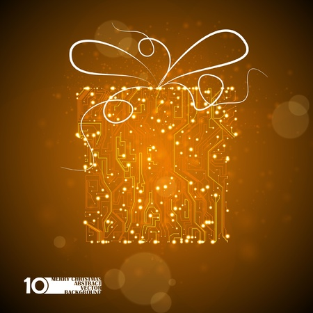 circuit board vector background, technology illustration, holidays gift eps10 Vector