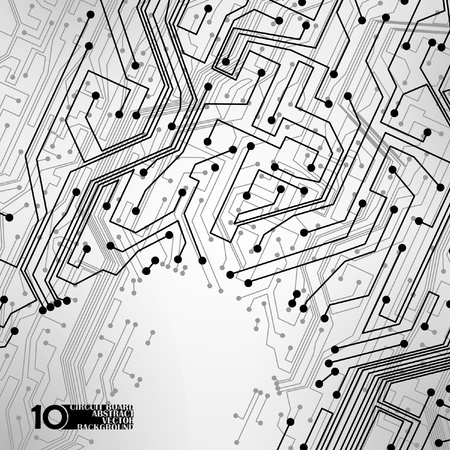 circuit board vector background, technology illustration eps10 Vector