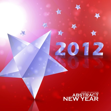 Year 2012  stars vector background, creative illustration eps10 Stock Vector - 11656706
