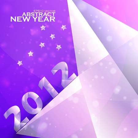 Year 2012  stars vector background, creative illustration eps Stock Vector - 11656702