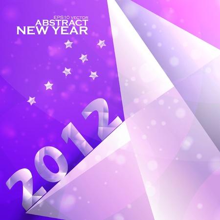 Year 2012  stars vector background, creative illustration eps Stock Vector - 11656702