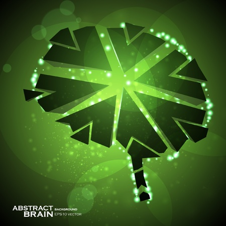 Brain crushing, abstract light background, vector illustration eps10 Stock Vector - 11656717