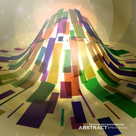 Abstract vector background, futuristic colorful strip, technology illustration eps10 Vector
