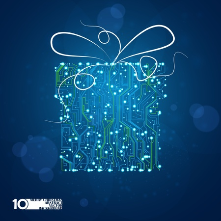 circuit board vector background, technology illustration, holidays gift eps10