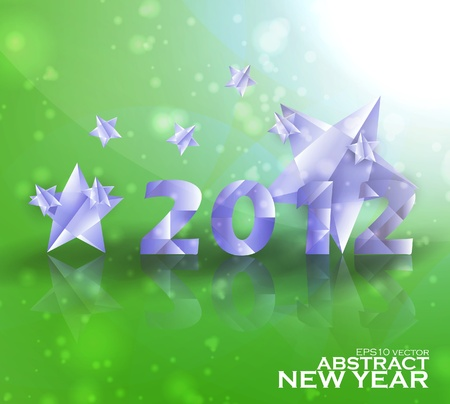 Year 2012  stars vector background, creative illustration eps10 Stock Vector - 11759544