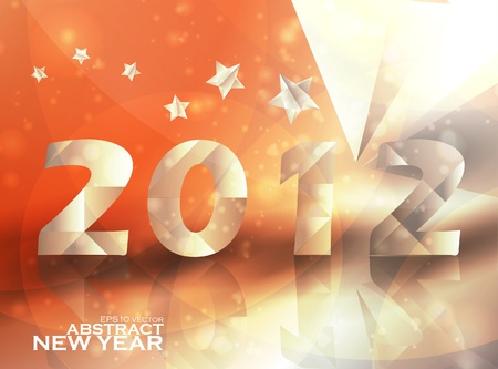 Year 2012  stars vector background, creative illustration eps10 Vector