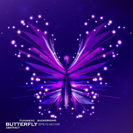 cute fairy: Shiny Butterfly abstract vector, futuristic colorful strip, stylish illustration eps10 Illustration