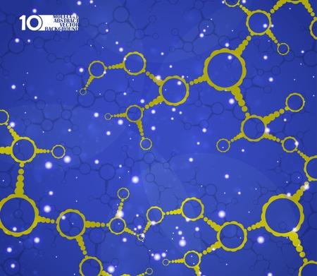 Futuristic dna, abstract molecule, cell illustration eps10 Stock Vector - 11759548